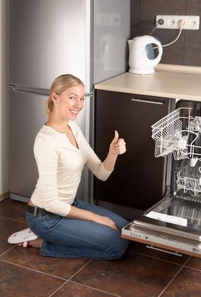 Helintegrerad diskmaskin i kök