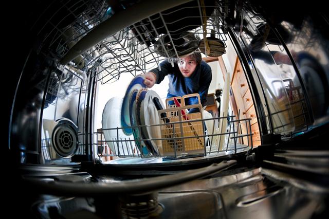 Inredning i diskmaskin