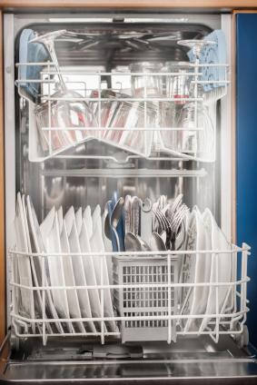diskmaskin diskar inte rent